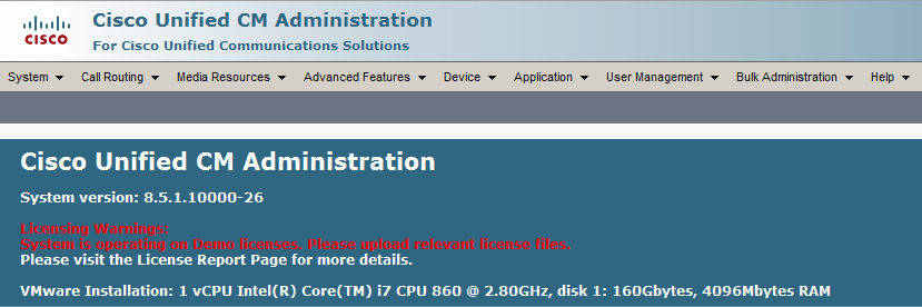 Install Cisco Unified Communication Manager 8 5(1) and Cisco