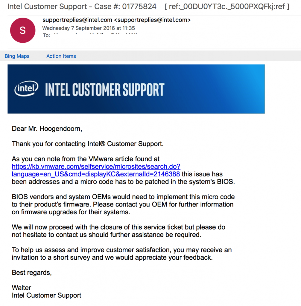 intel-response-message